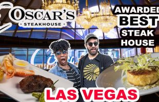 Awarded BEST STEAKHOUSE in Las Vegas | Eating at Oscar's Steakhouse