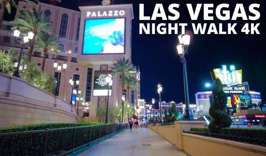 Las Vegas Night Walk (4K) | DJI Osmo Pocket 4K 30FPS